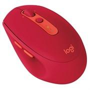 (1026544) Мышь Logitech беспроводная M590 Multi-Device Silent, 2.4GHZ/BT, красная (RUBY)