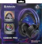 (1026564) Игровая гарнитура Cosmo PRO объемный звук 7.1, RGB, 2.1 м DEFENDER