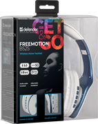 (1026557) Беспроводная гарнитура FreeMotion B525 белый+синий, Bluetooth DEFENDER