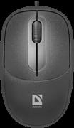 (1026580) Компьютерная мышь чёрная Defender Datum MS-980 (3 кнопки, 1000 dpi, USB)