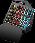 (1026587) Проводная игровая клавиатура Nova GK-860L RU,35B,Rainbow подсветка DEFENDER