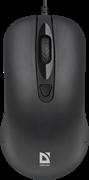 (1026589) Проводная оптическая мышь Classic MB-230 4кнопки,1000/1200dpi,черный DEFENDER