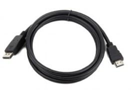 (1026604) Кабель DisplayPort->HDMI Cablexpert, 7.5м, 20M/19M, черный, экран, пакет