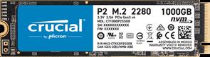 (1026701) Твердотельный накопитель SSD M.2 Crucial 1000Gb P2 <CT1000P2SSD8> (PCI-E 3.0 x4, up to 2400/1800MBs, 3D QLC, NVMe, 300TBW, 22х80mm)