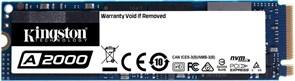 (1026703) Твердотельный накопитель SSD M.2 Kingston 1.0Tb A2000 Series <SA2000M8/1000G> (PCI-E 3.0 x4, up to 2200/2000Mbs, 220000 IOPS, 3D TLC, NVMe, AES-256, 600TBW, 22х80mm)