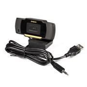 """(1026303) Exegate EX286180RUS Веб-камера ExeGate GoldenEye C270 {матрица 1/3"""" 0,3 Мп, 640х480,480P,USB+35mm Jack,микро.с шумоподавлением, автофокус, универсальное крепление, кабель 1,5 м, Win Vista/7/8/10}"""