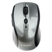 (1026594) Мышь беспров. Gembird MUSW-430, 2,4 ГГц, серый глянец, 6 кнопок,2400DPI