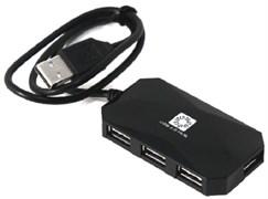 (1026610) Концентратор 5bites HB24C-210BK 4*USB2.0 / TYPE-C PLUG / BLACK