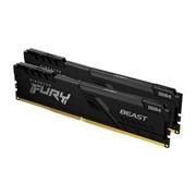 (1026692) Модуль памяти DDR 4 DIMM 16Gb PC25600, 3200Mhz, Kingston FURY Beast Black CL16 (Kit of 2) (KF432C16BBK2/16) (retail)