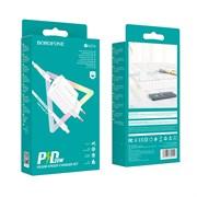 (1026806) Зарядное устройство BOROFONE BA57A PD + кабель Type-C - iPhone 5/iPad White