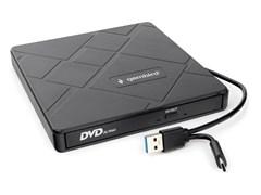 (1026850) Внешний DVD±RW привод USB 3.0 со встроенным кардридером и хабом Gembird DVD-USB-04 пластик, черный