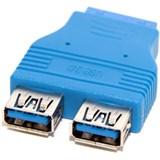 (111167)  Переходник 2 x USB3.0 (AF) -> 20PIN разъем на M/ B (F),  5bites (USB3004)