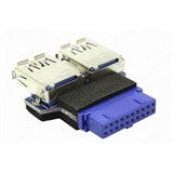 (111934)  Переходник с мат платы 20-pin -> 2*USB3.0 (F)  Espada, гор. расп. портов