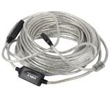 (119378)  Кабель удлинительный USB 2.0 (AM) -> USB2.0 (AF), 20m, Vcom (VUS7049), активный