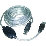 (109588)  Кабель удлинительный USB 2.0 (AM) -> USB2.0 (AF), 15m, Vcom (VUS7049), активный