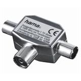 (Код: 3331380) Антенный разветвитель (КРАБ), 1 (f) -> 2 (m), коаксиальный штекер, металл, Hama     [H-42998]