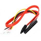 """(91976) Кабель VCOM Slim SATA для 2.5"""" HDD/SSD (VHC7702), SATA данные+питание 7+15 pin , 0.45м"""