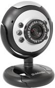 (112652) Веб-камера DEFENDER С-110, 0,3Mpx, подсветка, кнопка фото