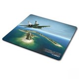 (112947)  Коврик для мыши KREOLZ PAN-14 тканево-резиновый, 270*230 мм, Jet Plane
