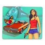 (1002273) Мышь сувенирная+ коврик CBR Gangsta, 1000 dpi, рисунок, USB, Gangsta