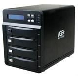 """(1001726) Внешний корпус для HDD AgeStar 3C4B3A1 SATA II алюминий черный LCD 3.5"""""""