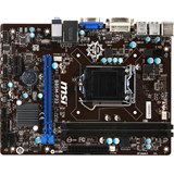(109159) Материнская плата MSI B85M-P33  Socket 1150, iB85, 2*DDR3, PCI-E, SATA, SATA 6Gb/ s, ALC887 8ch, GLAN, USB3.0, D-SUB+ DVI-D (Integrated In Processor), mATX