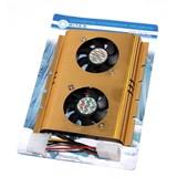 (97606)  Вентилятор для HDD 5bites FHDD-DUAL (креп.снизу),2вент. 50x50x10мм., 24dBa, 10CFM, 4500RPM, 4Pin