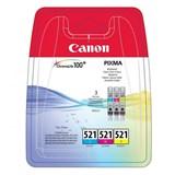 (1004583) Набор картриджей струйных Canon CLI-521 2934B010 голубой+пурпурный+желтый для PIXMA MP540/620/630/980