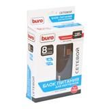 (1001328) BURO Адаптер универсальный для ноутбуков 220V/ выход12-24В/ ЖК дисплей/ 90Вт/ 8переходников