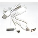 (106461)  Адаптер 5bites AP-008 многофункциональный, зарядка (IPAD3, IPHONE4/ 4S, USB MICRO/ MINI 5P) + USB концентратор на 1 порт