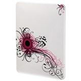 """(3330838) Футляр Swirly Pink для iPad, 9.7"""" (25 см), поликарбонат, белый с рисунком, Hama [OhN]"""