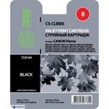 (3330025)  Картридж струйный Cactus CS-CLI8BK черный для принтеров CANON PIXMA MP470/  MP500/  MP530/  MP600/  MP800/  MP810/  MP830/  MP970; MX850; iP4200/  iP4300/  iP5200/  iP5300/  iP6600D/  iP