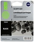 (3330364) Картридж струйный CACTUS CS-EPT1281 черный для принтеров Epson Stylus S22/ S125/ SX420/ SX425; Office BX305, 10мл