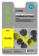 (1002409) Картридж струйный Cactus CS-C4838 №11 желтый для HP 2000/2500/1000/1100/1200 (1800стр.)