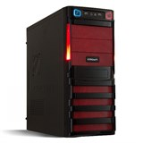 (1002915) Корпус Miditower CROWN CMC-SM162 black/red ATX (CM-PS450W smart) USB 3.0