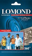 (3330334) Lomond Фотобумага суперглянцевая, 10x15, 260 г/ м2, 20 листов