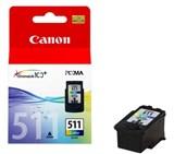 (77894) Картридж струйный Canon CL-511 цветной для принтеров Canon PIXMA MP240/ MP260/ MP480/ MP250/ MP490/ MX330