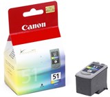 (29556) Картридж струйный Canon CL-51 0618B001 для принтеров Canon PIXMA MP450/ PM170/ PM150/ iP6220D/ iP6210D/ iP2200/ iP1600 увеличенный ресурс