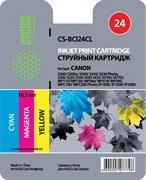 (3330015)  Картридж струйный Cactus CS-BCI24CL цветной для принтеров CANON S200/  S200x/  S300/  S330/  S330 Photo; i250/  i320/  i350/  i450/  i455/  i470D/  i475D; MP110/  MP130/  MP360/  MP370/  MP39