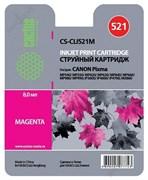 (3330023) Картридж струйный Cactus CS-CLI521M пурпурный для принтеров CANON PIXMA MP540/  MP550/  MP620/  MP630/  MP640/  MP660/  MP980/  MP990; iP3600/  iP4600/  iP4700; MX860, 446 стр.,