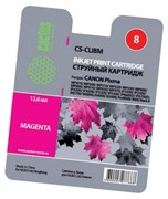 (3330027)  Картридж струйный Cactus CS-CLI8M пурпурный для принтеров CANON PIXMA MP470/  MP500/  MP510/  MP520/  MP530/  MP600/  MP800/  MP810/  MP830/  MP970; iP3300/  iP3500/  iP4200/  iP4300/  iP5200/