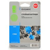 (1001565) Картридж Cactus CS-CLI451C для Canon MG 6340/ 5440 IP7240 голубой