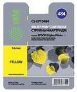 (3330227) Картридж струйный CACTUS CS-EPT0484 желтый для принтеров Epson Stylus Photo R200/  R220/  R300/  R320/  R340/  RX500/  RX600/  RX620/  RX640, 14.4 мл
