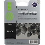 (3330355)  Картридж струйный CACTUS CS-EPT0074 черный для принтеров Epson Stylus Photo 785/  790/  870/  875/  890/  895/  900/  915/  1270/  1280; PM-3700, 16 мл.