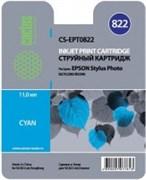 (3330239) Картридж струйный CACTUS CS-EPT0822 голубой для принтеров Epson Stylus Photo R270/ 290/ RX590 , 460 стр., 11 мл.