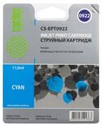 (3330271) Картридж струйный CACTUS CS-EPT0922 голубой для принтеров Epson Stylus C91/  CX4300/  T26/  T27/  TX106/  TX109/  TX117/  TX119, 5.5 мл
