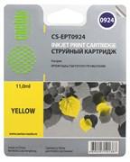 (3330273) Картридж струйный CACTUS CS-EPT0924 желтый для принтеров Epson Stylus C91/  CX4300/  T26/  T27/  TX106/  TX109/  TX117/  TX119, 5.5 мл