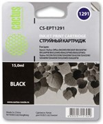 (3331215) Картридж струйный CACTUS CS-EPT1291 черный для принтеров Epson Stylus Office B42/ BX305/ BX305F/ BX320/ BX525/ BX625/ SX420/ SX425/ SX525/ SX620,  15мл