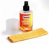 (3330163) Гель BURO для чистки экранов, мониторов и оптики 200 мл + микрофибра 16*25