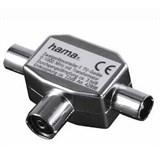 (3331380) Антенный разветвитель (КРАБ), 1 (f) -> 2 (m), коаксиальный штекер, металл, Hama     [H-42998]